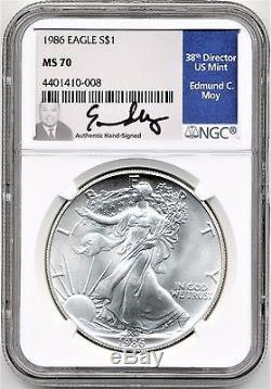1986 Silver American Eagle MS70 ED MOY HAND SIGNED Rare Only 1 on eBay