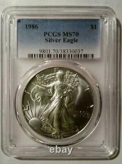 1986 Silver American Eagle PCGS MS70