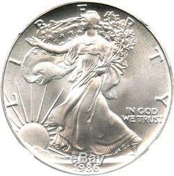 1986 Silver Eagle $1 NGC MS70 Rare Grade American Eagle Silver Dollar ASE