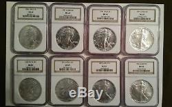 1986 thru 2017 Silver American Eagle NGC MS69 Set, Brown Label, Free Shipping