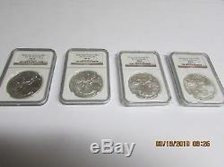 1986 to 2017(32) NGC Brown Label MS69 American Silver Eagle Set, + Five Extras