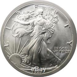 1987 $1 Silver American Eagle ANACS MS70