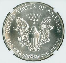 1987 AMERICAN SILVER EAGLE $1 NGC MS70 MAC PQ ASE DOLLAR SPOTLESS