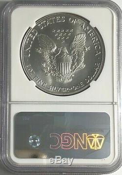 1987 Ngc Ms70 Silver American Eagle Mint State 1 Oz. 999 Fine Bullion