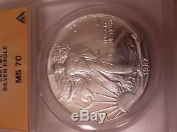 1987 Silver American Eagle (ANACS MS-70)