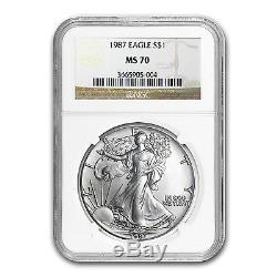 1987 Silver American Eagle Coin MS-70 NGC SKU #14768