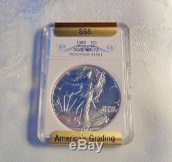 1988 American Silver Eagle SGS MS70