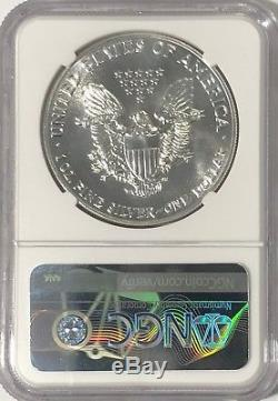 1988 Ngc Ms70 Silver American Eagle Mint State 1 Oz. 999 Fine Bullion