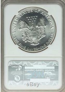 1989 $1 One Ounce Mint State American Silver Eagle NGC MS 70 Gold Label