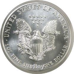 1989 $1 Silver American Eagle ANACS MS70