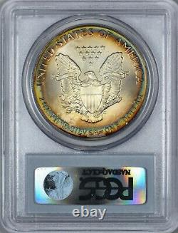 1989 American Silver Eagle PCGS MS67 TONING! QA Check Gold Sticker