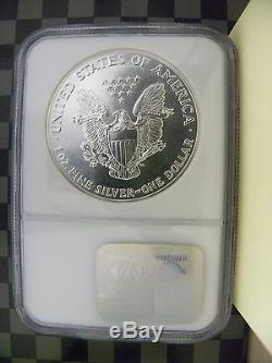 1989 Silver American Eagle 1oz graded MS70 NGC