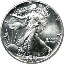 1989 Silver Eagle $1 PCGS MS70 American Eagle Silver Dollar ASE