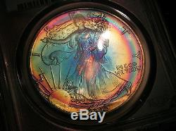 1990 AMERICAN SILVER EAGLE PCGS MS 68 GORGEOUS COLORFUL RAINBOW TONING