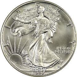 1990 American Silver Eagle NGC MS70 Scarce