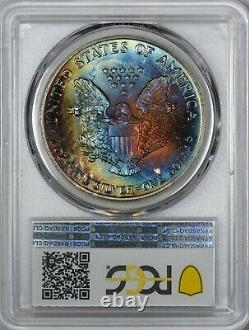 1990 American Silver Eagle PCGS MS67 TONING