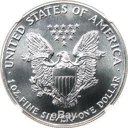 1990 Silver Eagle $1 NGC MS70 American Eagle Silver Dollar ASE