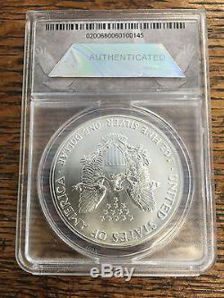 1991 $1 1 oz American Silver Eagle ANACS MS70