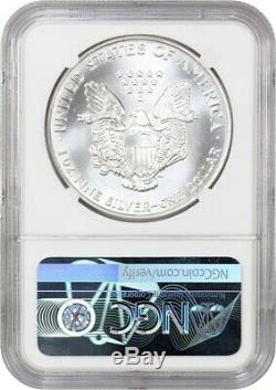 1991 Silver Eagle $1 NGC MS70 American Eagle Silver Dollar ASE