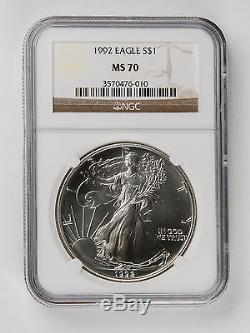 1992 American Silver Eagle NGC MS 70 Rare