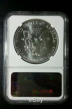 1992 American Silver Eagle NGC MS 70 Rare No Spots