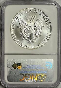 1992 American Silver Eagle NGC MS70