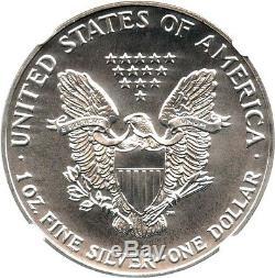 1992 Silver Eagle $1 NGC MS70 Rare Grade American Eagle Silver Dollar ASE