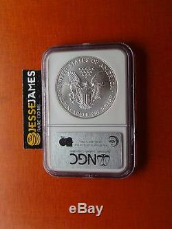 1993 American Silver Eagle Ngc Ms70 Top Pop Beautiful Coin