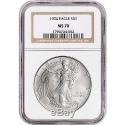 1994 American Silver Eagle NGC MS70 NGC Non Edge-View Holder