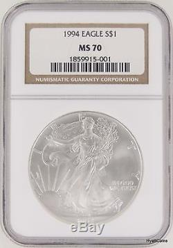 1994 Silver American Eagle NGC MS70