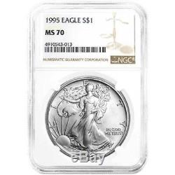 1995 $1 American Silver Eagle NGC MS70 Brown Label