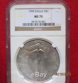 1995 American Eagle Silver Dollar Graded MS 70