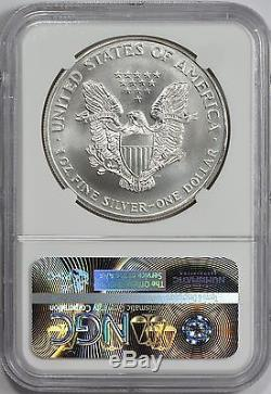 1995 American Silver Eagle NGC MS70