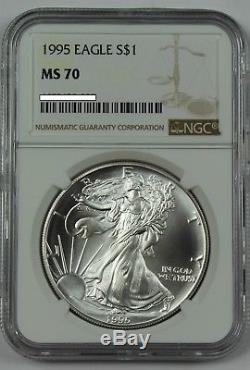 1995 American Silver Eagle NGC MS70 ASE $1 Key Date. 999 1oz Bullion US Coin