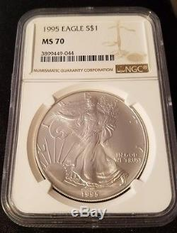 1995 American Silver Eagle NGC MS70 PERFECT COIN. Great PRICE
