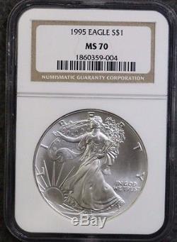1995 American Silver Eagle NGC MS70 SUPER RARE