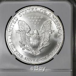 1995 MS70 American Silver Eagle $1 ASE, NGC Graded