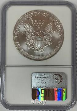 1996 $1 American Silver Eagle NGC MS70 #1764677-014