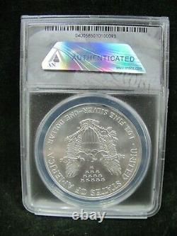 1996 American Silver Eagle ANACS MS 70