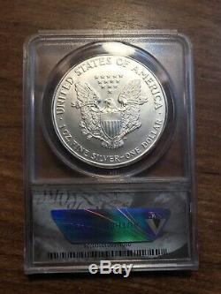 1996 American Silver Eagle Anacs MS70! Perfect Coin! Gorgeous Eye Appeal! Rare