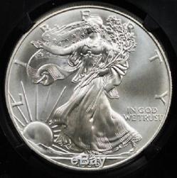 1996 Silver American Eagle Ms70 Ngc Dollar