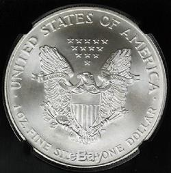 1996 Silver American Eagle Ms70 Ngc Dollar