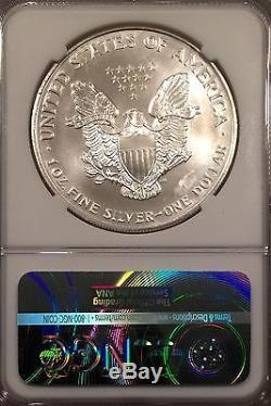 1996 Silver American Eagle/NGC-MS66 /obverse Truck Thru/Mint Error/#1030505894