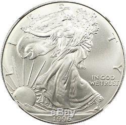 1996 Silver Eagle $1 NGC MS70 American Eagle Silver Dollar ASE