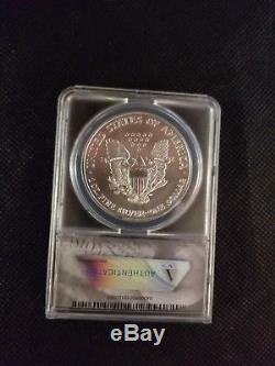 1996 american silver eagle anacs ms70