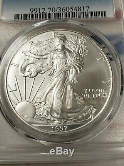 1997 American Silver Eagle Dollar $1 ASE PCGS MS70 $1,250 Value No Reserve NR