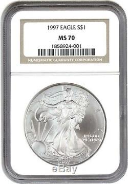 1997 Silver Eagle $1 NGC MS70 American Eagle Silver Dollar ASE
