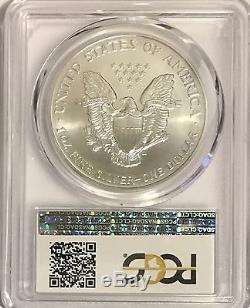 1998 $1 Pcgs Ms70 Silver American Eagle 1 Oz. 999 Fine Bullion