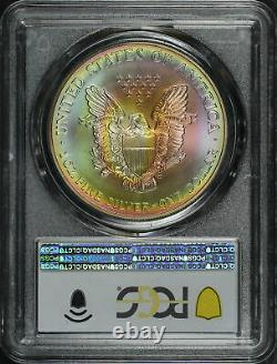 1998 American Silver Eagle PCGS MS-68 Rainbow Toned
