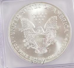 1999 1 Dollar American Silver Eagle ICG MS-70 /G3019
